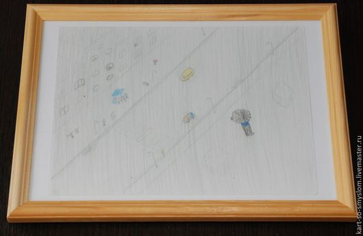 Люди, ручной работы. Ярмарка Мастеров - ручная работа. Купить Картинки со смыслом: №11 - Внезапный ливень. Handmade. Картинка