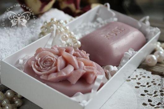 """Подарочные наборы косметики ручной работы. Ярмарка Мастеров - ручная работа. Купить """"РОЗОВЫЙ"""" подарочный набор мыла ручной работы. Handmade."""