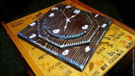 """Часы для дома ручной работы. Ярмарка Мастеров - ручная работа. Купить Часы со старением """" 3D фигура"""". Handmade."""