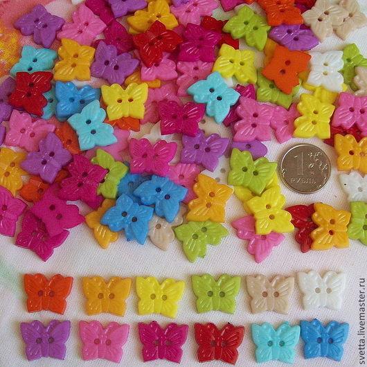 Шитье ручной работы. Ярмарка Мастеров - ручная работа. Купить Пуговицы-бабочки 14х18 мм. Handmade. Пуговица, декоративные пуговицы