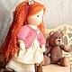 Вальдорфская игрушка ручной работы. Вальдорфская кукла Маруся (33 см) с гардеробом и мишкой. Оксана Сурова кукольная мастерская. Ярмарка Мастеров.