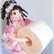 Материалы для творчества handmade. Livemaster - original item Video Master-class on making dolls toilet paper Holder. Handmade.
