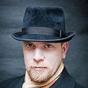 Аксессуары ручной работы. Ярмарка Мастеров - ручная работа Фетровая мужская шляпа Федора. Handmade.
