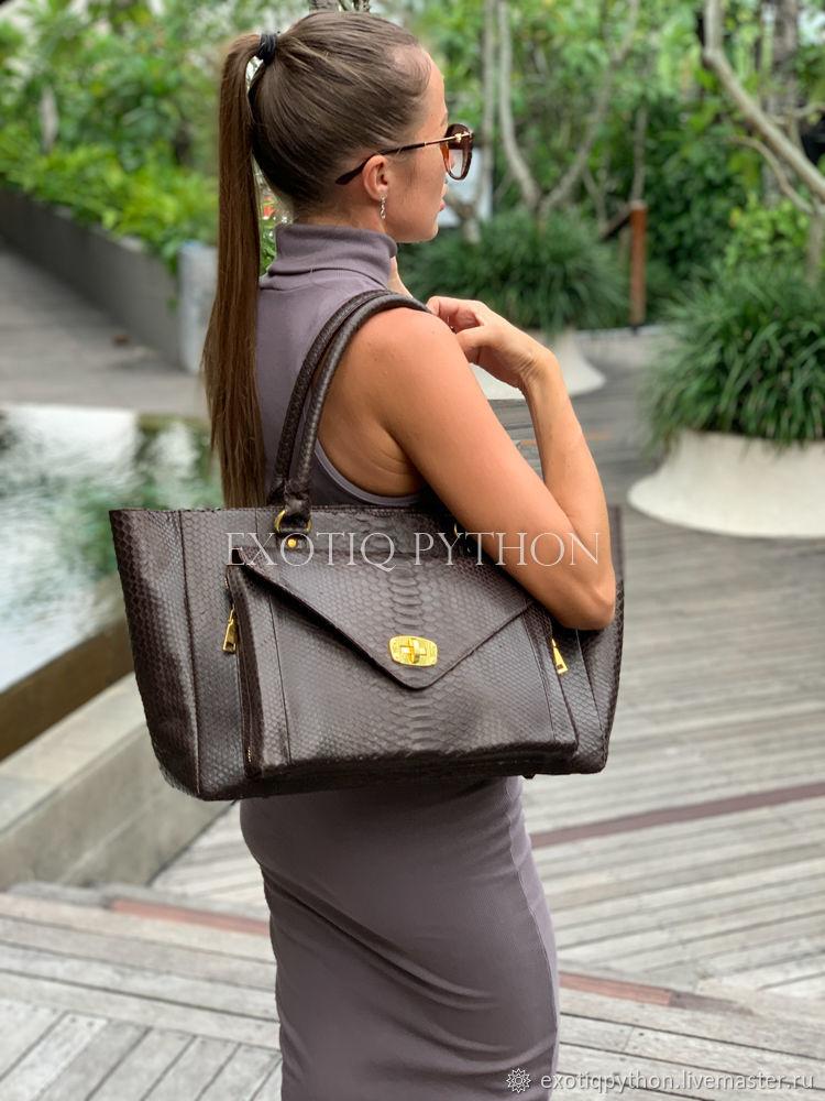 Bag leather Python, Classic Bag, Moscow,  Фото №1