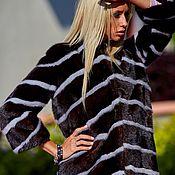 Одежда ручной работы. Ярмарка Мастеров - ручная работа Шуба из коричневой норки. Handmade.