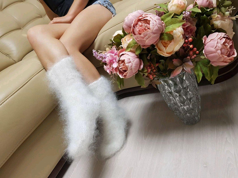 ПУХОВЫЕ ОБЛАЧКА Вязаные носки женские теплые пуховые носки из пуха, Носки, Волгоград,  Фото №1