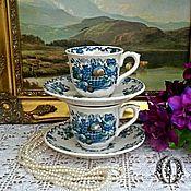 Винтаж ручной работы. Ярмарка Мастеров - ручная работа Кофе для Двоих Mason`s 1950 -е Англия. Handmade.