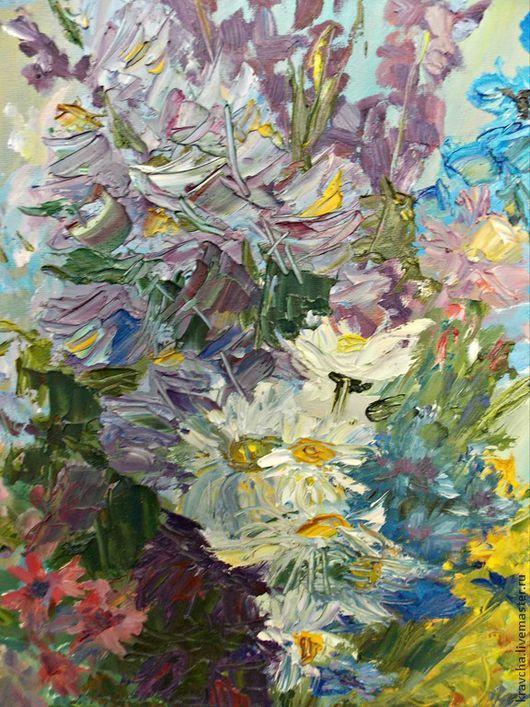 Картины цветов ручной работы. Ярмарка Мастеров - ручная работа. Купить Картина маслом Полевые цветы. Handmade. Полевые цветы