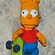 Человечки ручной работы. Ярмарка Мастеров - ручная работа. Купить Барт Симпсон. Вязаная игрушка. Handmade. Желтый, симпсоны