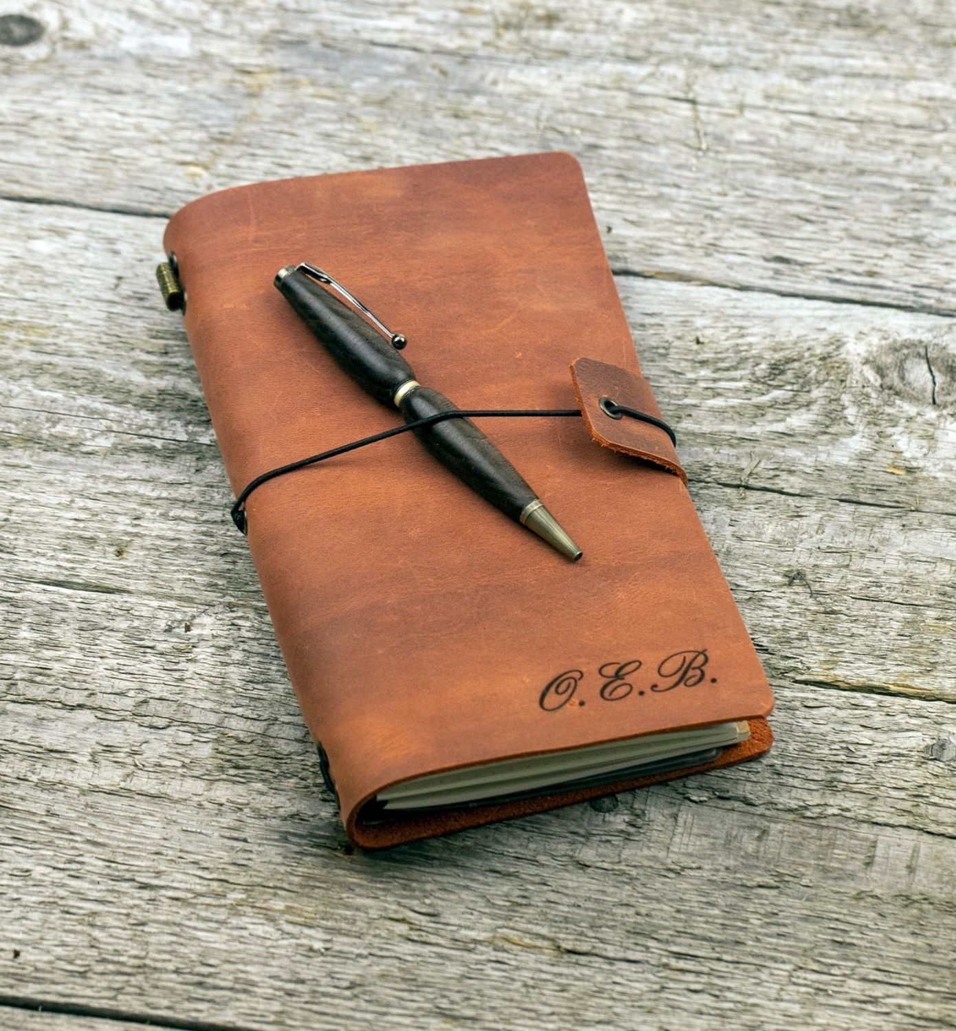 Leather notebook with initials, Diaries, Moscow,  Фото №1