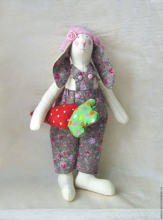 Куклы Тильды ручной работы. Ярмарка Мастеров - ручная работа. Купить Кролик Тильда с морковкой. Handmade. Кролик ТИЛЬДА, хлопок