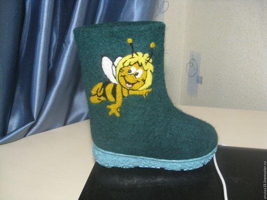 Обувь ручной работы. Ярмарка Мастеров - ручная работа. Купить Валенки детские Пчёлка. Handmade. Валенки детские, подарок малышу