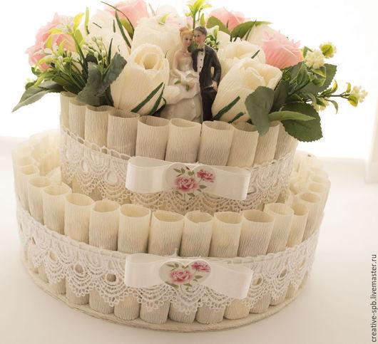 Подарки на свадьбу ручной работы. Ярмарка Мастеров - ручная работа. Купить Свадебный торт Подарок на свадьбу Подарок на помолвку. Handmade.