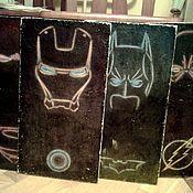 Картины и панно ручной работы. Ярмарка Мастеров - ручная работа Панно деревянные большие_ Супергерои комиксов. Handmade.