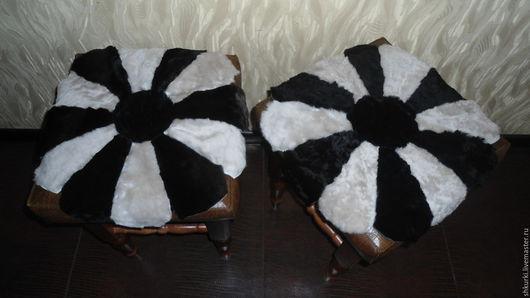 Текстиль, ковры ручной работы. Ярмарка Мастеров - ручная работа. Купить Накидки-сидушки из натуральной овчины (мутона). Handmade. Накидка
