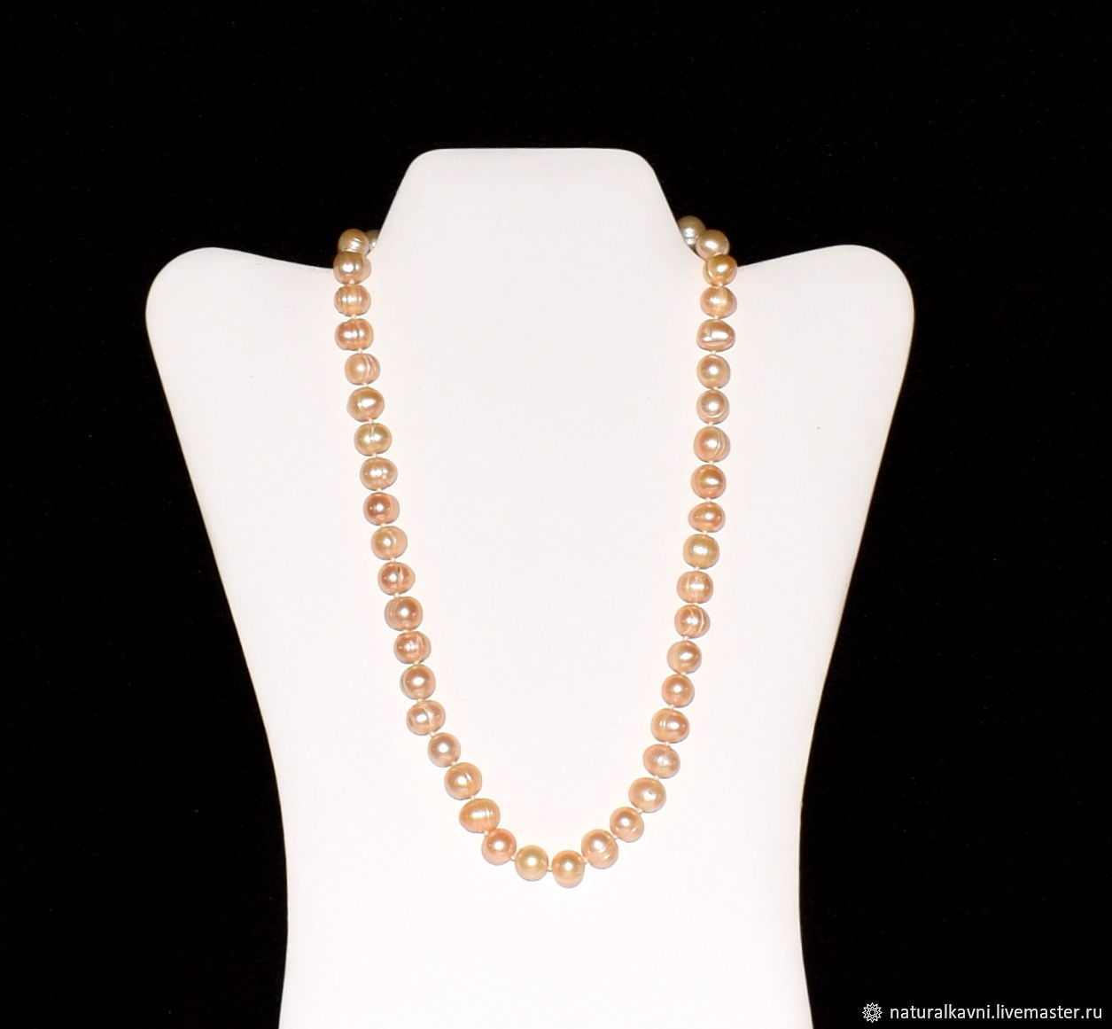 Beads made from natural cream pearls, Beads2, Moscow,  Фото №1