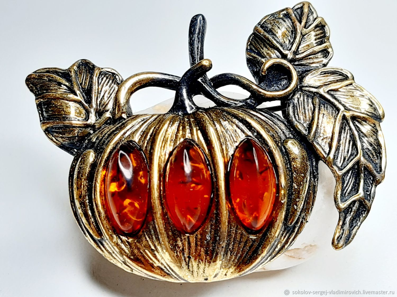 Brooch Pumpkin, Brooches, Moscow,  Фото №1
