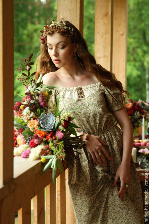 424a4a4c368 Платья ручной работы. Ярмарка Мастеров - ручная работа. Купить Платье в  бохо-стиле ...