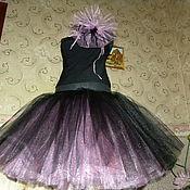 Одежда ручной работы. Ярмарка Мастеров - ручная работа Юбка пачка двойная чёрно розовая. Handmade.
