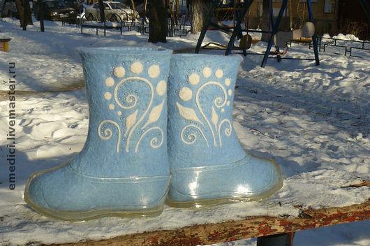 """Обувь ручной работы. Ярмарка Мастеров - ручная работа. Купить Валенки """"Зимние"""". Handmade. Валенки, авторские валенки, зимняя обувь"""
