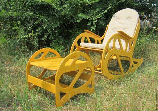 Мебель ручной работы. Ярмарка Мастеров - ручная работа. Купить Кресло-качалка с банкеткой. Handmade. КРЕСЛО-КАЧАЛКА, уютный подарок