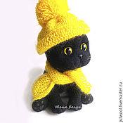 Мягкие игрушки ручной работы. Ярмарка Мастеров - ручная работа Кошка игрушка Маруся Леденцова. Handmade.