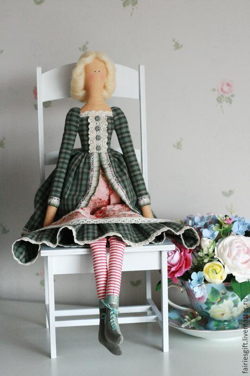 Куклы Тильды ручной работы. Ярмарка Мастеров - ручная работа. Купить Тильда Пелагея. Handmade. Зеленый, текстильная кукла