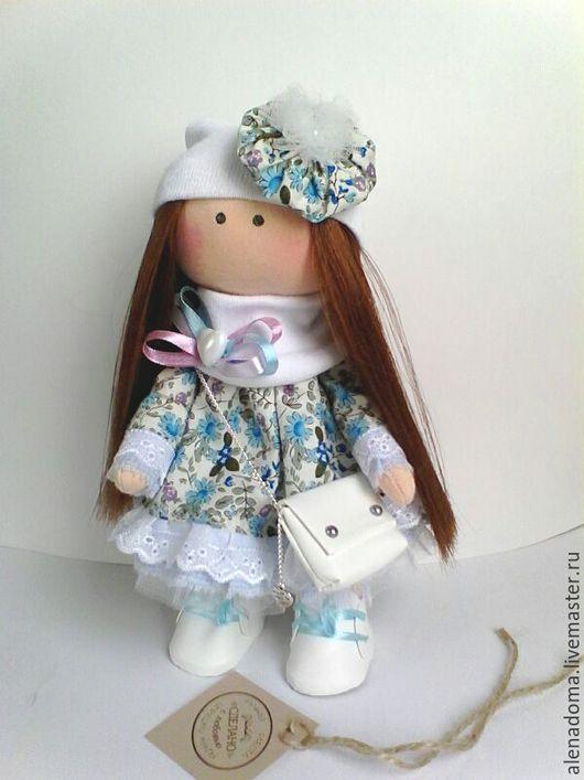 Коллекционные куклы ручной работы. Ярмарка Мастеров - ручная работа. Купить Интерьерная текстильная кукла ручной работы.. Handmade. Бирюзовый