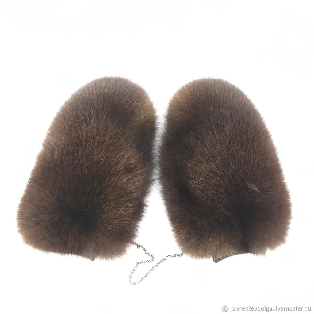 men's fur, Mittens, Moscow,  Фото №1