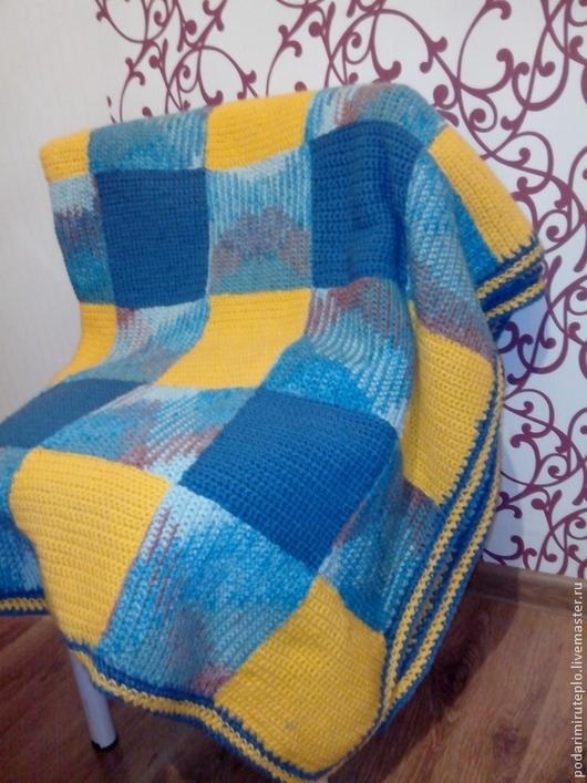 Текстиль, ковры ручной работы. Ярмарка Мастеров - ручная работа. Купить Вязаное одеяло. Handmade. Одеяло, плед вязаный
