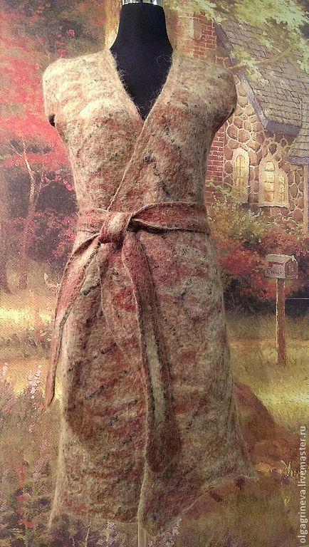 """Жилеты ручной работы. Ярмарка Мастеров - ручная работа. Купить Жилет """"Шотландская деревня"""". Handmade. Коричневый, пальто из войлока"""