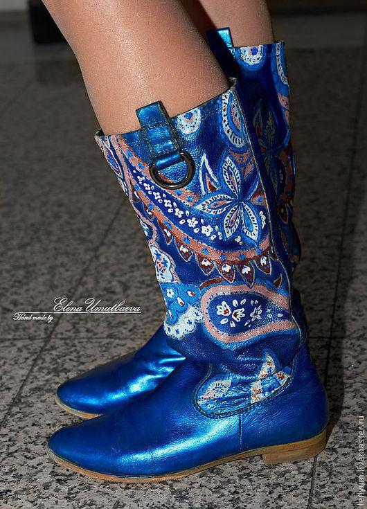 Выполню роспись на Вашей обуви. Возможен другой рисунок.