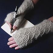 Аксессуары handmade. Livemaster - original item Women`s knitted fingerless gloves Clouds. Handmade.