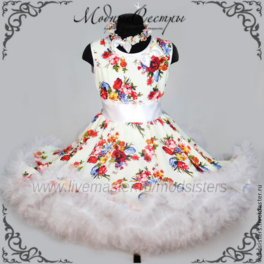 """Одежда для девочек, ручной работы. Ярмарка Мастеров - ручная работа. Купить Детское платье """"Цветы"""" Арт.144. Handmade."""
