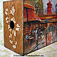 Mag Holders handmade. 'Autumn in Paris', journalize. MissDecoupage. My Livemaster.Moulin rouge