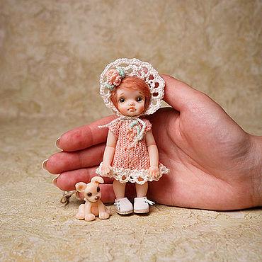 Dolls & toys handmade. Livemaster - original item Miniature doll 1:12 puppy. Handmade.