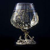 Посуда handmade. Livemaster - original item brandy glass. Fishing. Handmade.