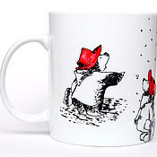 """Посуда ручной работы. Ярмарка Мастеров - ручная работа Чашка """"Медвежонок Падди"""" (Мишек много не бывает) (0857). Handmade."""