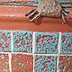 Кашпо ручной работы. Кашпо керамическое, цветочный горшок Мозаика. Ольга vintage decor & batik. Ярмарка Мастеров.