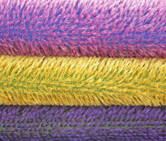 Широкая цветовая гамма мохера для мишек Тедди