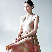 Одежда ручной работы. Ярмарка Мастеров - ручная работа Валяное платье «Rose». Handmade.