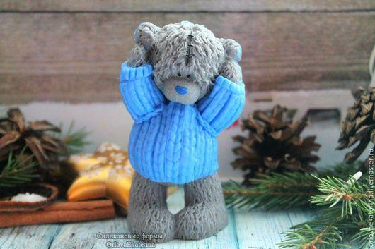 Материалы для косметики ручной работы. Ярмарка Мастеров - ручная работа. Купить ЭКСКЛЮЗИВНАЯ силиконовая форма Тедди в свитере. Handmade. Голубой