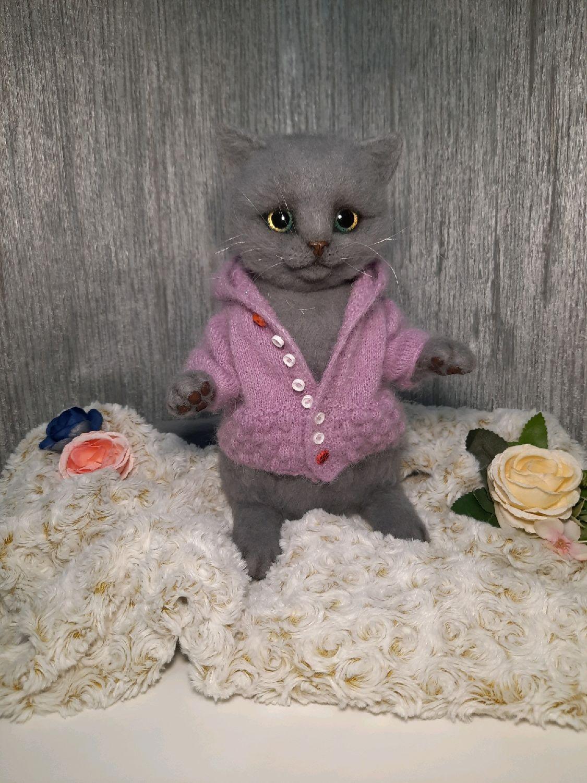 """Войлочный кот """"Васенька"""", Войлочная игрушка, Саратов,  Фото №1"""
