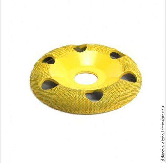 Другие виды рукоделия ручной работы. Ярмарка Мастеров - ручная работа. Купить Рашпильный диск для болгарки выпуклый финишный с отверстиями. Handmade.
