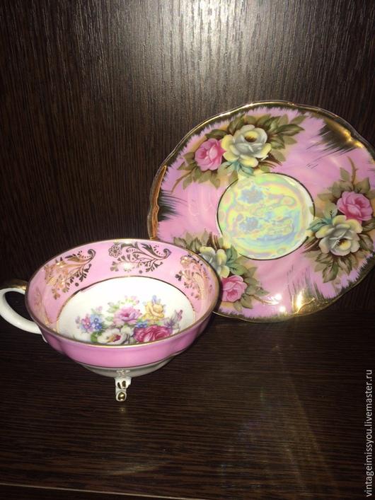 Винтажная посуда. Ярмарка Мастеров - ручная работа. Купить Винтажная фарфоровая пара, Япония. Handmade. Розовый, япония