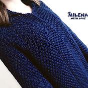 Одежда handmade. Livemaster - original item Cardigan knitted Sapphire. Handmade.