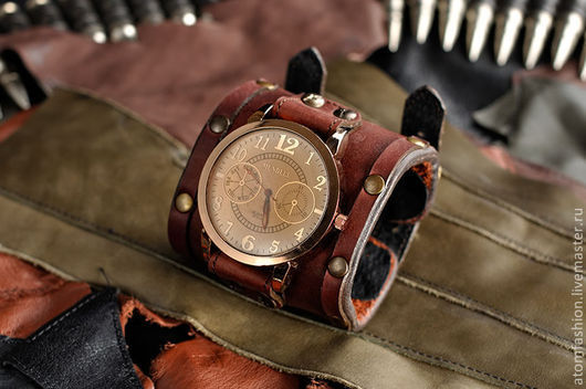 """Часы ручной работы. Ярмарка Мастеров - ручная работа. Купить Часы мужские """"Да Винчи"""". Handmade. Коричневый, часы стимпанк"""