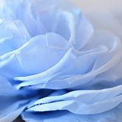 Брошь-булавка ручной работы. Ярмарка Мастеров - ручная работа Небесная роза брошь. Handmade.