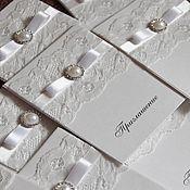 """Свадебный салон ручной работы. Ярмарка Мастеров - ручная работа приглашение на свадьбу """"Кружево"""". Handmade."""