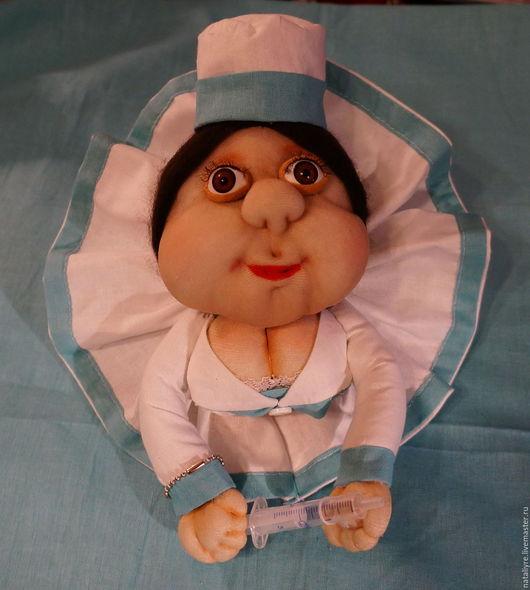 Коллекционные куклы ручной работы. Ярмарка Мастеров - ручная работа. Купить Кукла попик врач. Handmade. Подарок, кукла